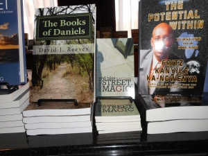My book, Street Magic, on display.